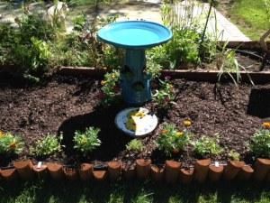 birdbath garden1
